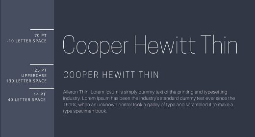 Cooper Hewit Thin & Cooper Hewit Thin