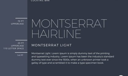 Montserrat Hairline & Montserrat Light