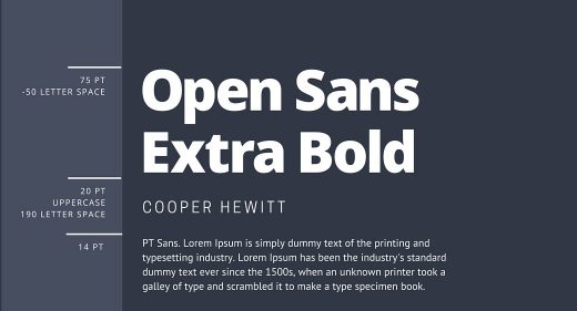 Open Sans Extra Bold & Cooper Hewit